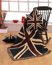 British Flag Pillow Jacquard Union Jack Cushion Cover British Flag Tapestry Homescapes