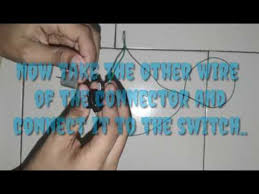how to connect a motor to a switch youtube