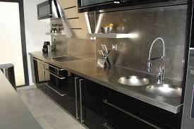meuble cuisine inox cuisine inox modele cuisine en l meubles rangement