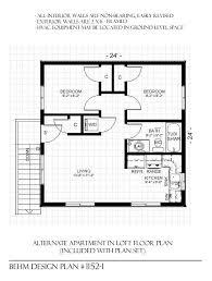 garage with loft floor plans 1152 1 24 4 x 24 2 car two story behm garage plansbehm