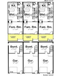 triplex house plans designs home deco plans