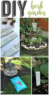 Diy Patio Fountain Planting An Herb Garden Diy Today U0027s Creative Life