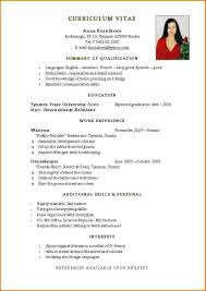resume format in word normal resume format word exolgbabogadosco for simple resume