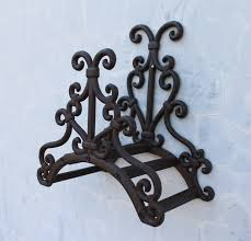 wrought iron new garden hose rack holder scrowl outdoor decorative