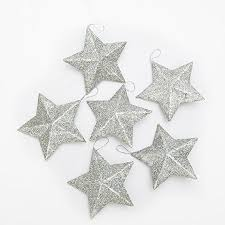 Silver Glitter Christmas Tree Decorations by Silver Archives Christmas Tablescape Decor