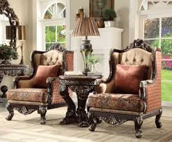 Brown Accent Chair Hd66 Homey Design Brown Upholstered Accent Chair Victorian Style