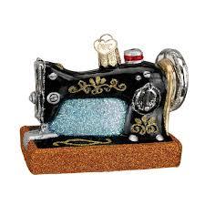 world sewing machine glass blown