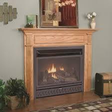 black dual fuel procom 29 inch vent free gas fireplace