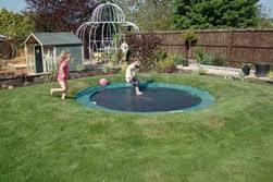 sunken trampoline how to sink a trampoline in the ground
