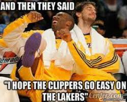 Clippers Memes - lakers shock clippers meme