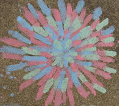 let the kids and grownups decorate the sidewalks with chalk art of