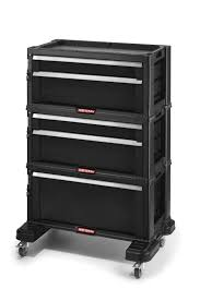 craftsman stackable plastic storage chest system