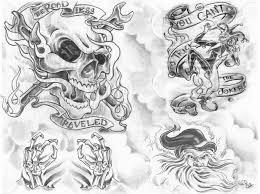 scull skull black and grey tattoo gns tattoos gallery 949x710