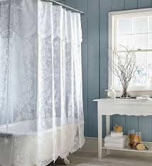 enchanting lace shower curtains and marshmallow lace shower