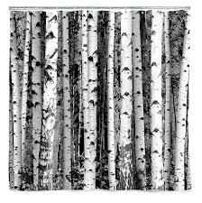 birch tree wrapping paper kikkerland shower curtain polyester birch home