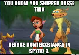 Hunter Meme - spyro elora x hunter meme by krazykari on deviantart
