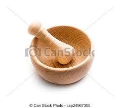 mortier cuisine bois bois mortier cuisine bois mortier isolé fond blanc