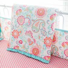 Crib Bedding Pattern Paisley Crib Bedding Aqua Baby Bedding Paisley Baby Bedding