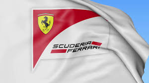 ferrari logo png waving flag with scuderia ferrari logo seamles loop 4k editorial