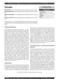 Viroid Diseases In Plants - viroids pdf rna dna replication
