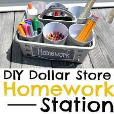dollar store portable homework station diy simple made pretty