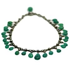 emerald drop antique emerald drop necklace for sale at 1stdibs