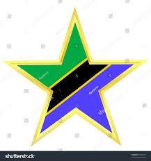 Flag Of Tanzania Gold Star Flag Tanzania Stock Vector 58463623 Shutterstock
