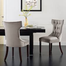 Upholstered Dining Chair Set Dorel Set Of 2 Clairborne Tufted Dining Chairs Colors