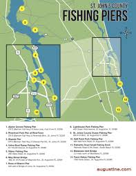 St Johns Florida Map by Saltwater U0026 Freshwater Fishing In St Augustine Fl