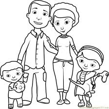 coloring pages graceful family coloring pages free print