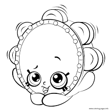 tambourine from shopkins shopkins season 5 coloring pages printable