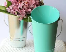 galvanized metal vase for farmhouse decor rustic wedding
