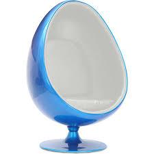 siege oeuf fauteuil oeuf bleu simili blanc inspiré aeero lestendances fr