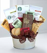 coffee and tea gift baskets starbucks cocoa coffee gift basket