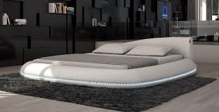 platform bed with led lights 1280 cerchio modern eco leather bed w led lights ideas for the