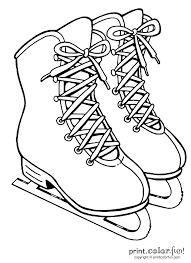 ice skates coloring page print color fun