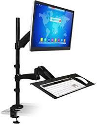 amazon com mount it sit stand workstation standing desk sit