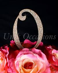 s cake topper unik occasions sparkling collection rhinestone monogram