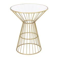 Wire Side Table Gold Wire Framed Side Table With Glass Top Free Shipping Today