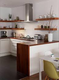 Small Space Open Kitchen Design Small Space Mid Century Kitchen Designs Bold Wooden Countertop And