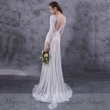 bohemian wedding dresses mryarce lace bohemian wedding dresses lace sleeve boho