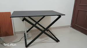 Electric Sit To Stand Desk by How To Make An Electric Sit And Standing Desk Diy Youtube
