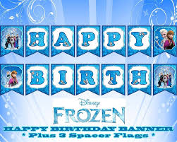 7 best images of frozen happy birthday printable sign printable