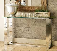 glass mirrored console table mirrored console table