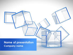glass cubes powerpoint template backgrounds 08276