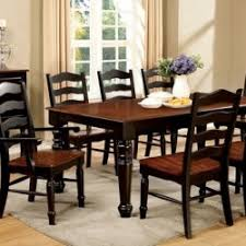 cherry kitchen table set palisade black and cherry dining room set by furniture of america