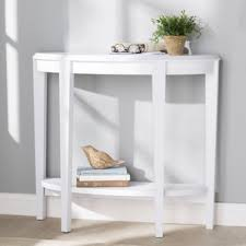 Half Moon Accent Table White Console U0026 Sofa Tables You U0027ll Love Wayfair