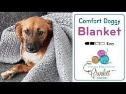 Dog Blankets For Sofa by How To Crochet Blanket For Dogs Youtube