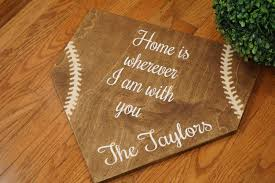 full size home plate home is wherever i am with you rustic