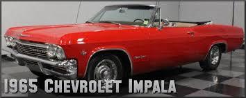 1965 chevrolet impala factory paint colors